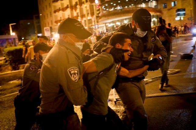 50 עצורים בהפגנה נגד נתניהו; עימותים קשים ונזק לרכוש