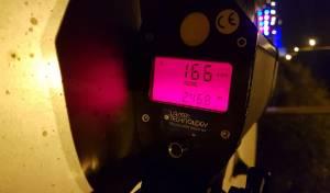 """במקום 90 קמ""""ש: נהג במהירות 166 קמ""""ש"""