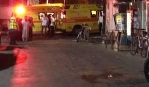 פינוי הקשישה מזירת השריפה אל בית החולים
