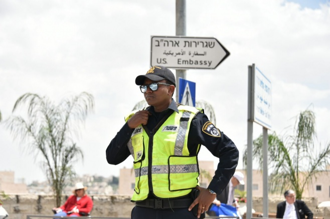 כך נערכה המשטרה לפתיחת השגרירות • צפו