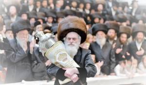 """ויז'ניץ חגגו הכנסת ס""""ת ושמחת בית השואבה"""