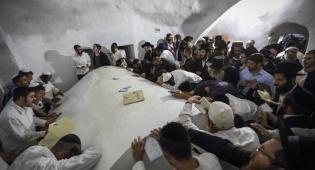 מאות הגיעו להתפלל בקבר יהושע בן נון