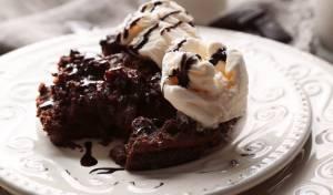 פודינג שוקולד ענק וחם