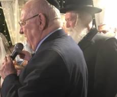 הרב גרוסמן והנשיא ריבלין בחתונה