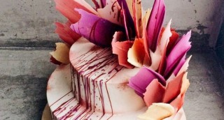 טרנד עיצוב עוגות חדש ומהפנט: שפריצים של צבע