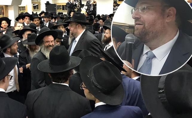 רכניץ בביקורו האחרון בישראל בחג הסוכות