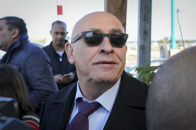 חבר הכנסת גטאס בכניסה לחקירת המשטרה, אתמול
