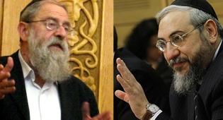 הרב אמסלם לצד הרב שטרן (שם-היוצר: GFDL, צילום: אריאל - ויקיפדיה)