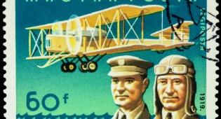 בול שהוצא אחר הטיסה הראשונה