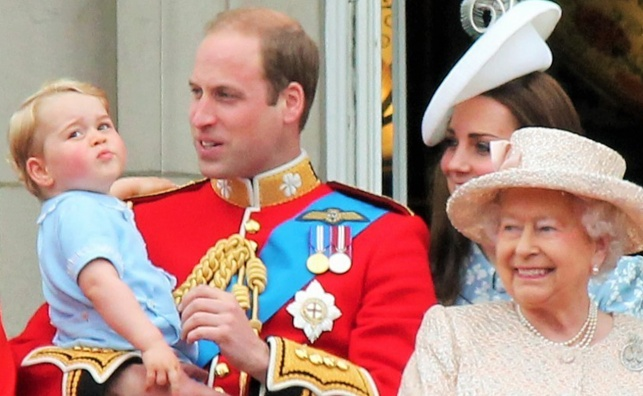 הנסיך ג'ורג', משמאל