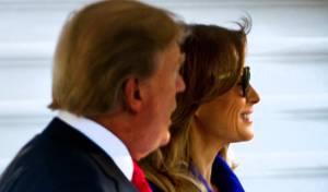 הגברת הראשונה והנשיא טראמפ