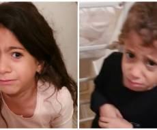 אמא צילמה את ילדיה מפחדים בזמן אזעקה