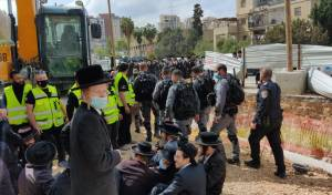 ההפגנות השבוע כנגד עבודות הרכבת הקלה בירושלים