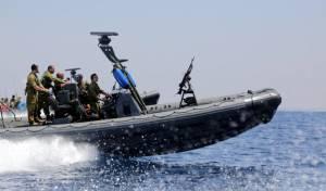 תמונות: ספינות חיל הים בחופי עזה