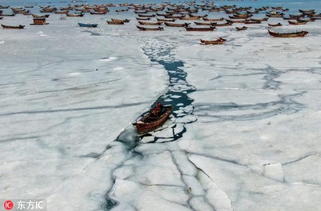 כך התגברו הדייגים הסינים על הקור העז