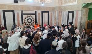 חברון: יונתן פולארד התקבל בשירה וריקודים