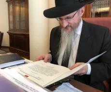 """הרב לאזאר עם אגרת הברכה - פוטין ליהודי רוסיה: """"מברך אתכם מכל הלב"""""""
