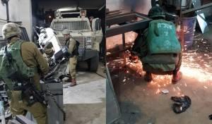 """כוח צה""""ל פשט על בית מלאכה לייצור נשק"""