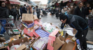 ערימות האשפה מתחילות לגבוה - שביתת עובדי עיריית ירושלים יצאה לדרך