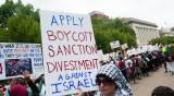 הפגנה של תומכי ה-BDS. אילוסטרציה - אנטישמיות אסלאמית - הכי מסוכנת ליהודים