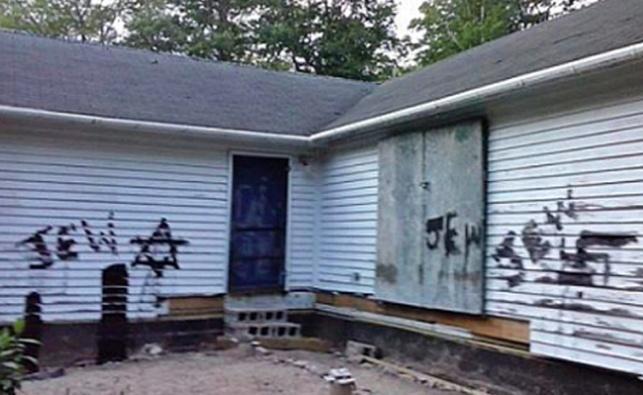 בית נופש במונטיצ'לו רוסס בגרפיטי אנטישמי
