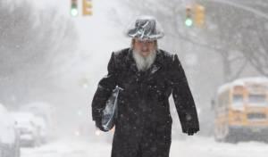 צפו במראה קסום: השכונות החרדיות בשלג