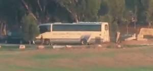 """תיעוד חדש: רגע פגיעת טיל הנ""""ט באוטובוס"""