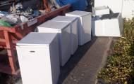 חלק מהמקררים שנזרקו