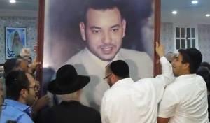 יהודי מרוקו רקדו עם תמונת המלך • צפו