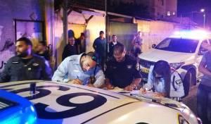השוטרים, בזירת האירוע אמש