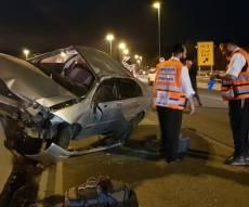 בדרך לגוטניק: תאונה קשה הסתיימה בנס