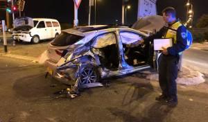 התאונה בכביש 55 בכפר סבא