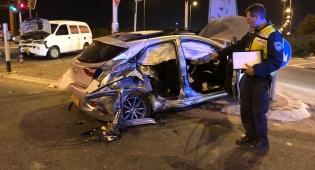 התאונה בכביש 55 בכפר סבא - לילה קשה: שני הרוגים בתאונות דרכים