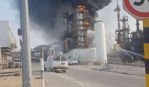 השריפה באשדוד - שריפה פרצה במתקני הזיקוק בנמל אשדוד