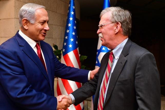 בולטון בביקורו בישראל, בשבוע שעבר