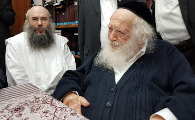 """רבי יצחק שאול  קניבסקי עם מרן שה""""ת"""