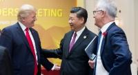 """מנהיג סין שי ג'ינפינג נשיא ארה""""ב דונלד טראמפ"""