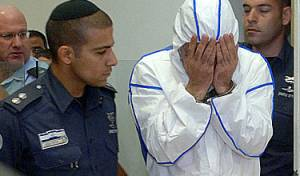 אשר דהן בבית-המשפט (צילום: פלאש 90)