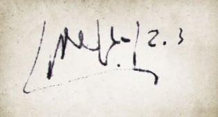 צניעות בחיים האישיים: חתימתו של דוד בן גוריון
