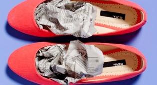 מילוי נעליים שומר על צורתן המקורית