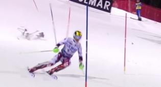 """מזל""""ט צילום כמעט הרג גולש סקי בתחרות"""