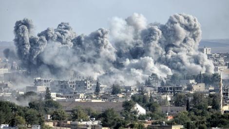 הפצצה בסוריה אילוסטרציה - הפסקת האש בסוריה שרדה 3 שעות בלבד