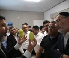 משה ליאון בחר אתרוג אצל הרב אופיר מלכה