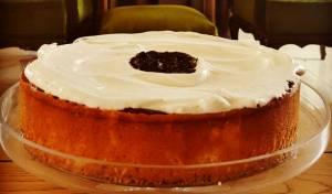 עוגת גבינה עם קצפת ואוכמניות - מפנקת: עוגת גבינה עם קצפת ואוכמניות