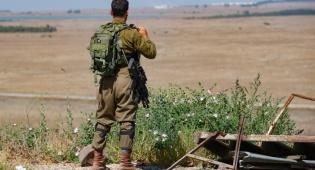 """כוח צה""""ל ליד הגבול עם סוריה. ארכיון"""