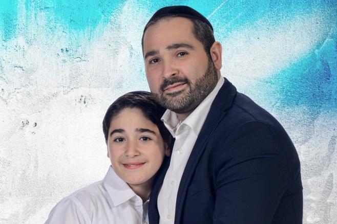 האב והבן בדואט לכבוד האח שחוגג בר מצווה