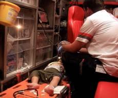 ארכיון - פעוט נפל במדרגות מתוך עגלת הילדים שלו
