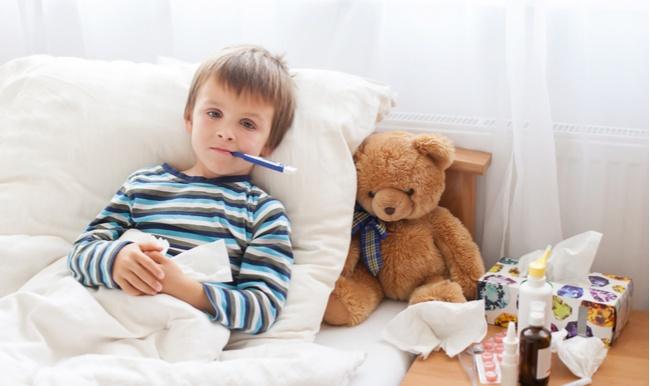 חום אצל ילדים. אילוסטרציה