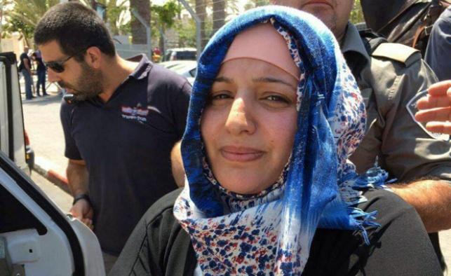 פדווא, המחבלת המואשמת, בעת מעצרה