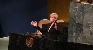 """שרת החוץ של אוסטרליה, ג'ולי בישופ נואמת באו""""ם"""